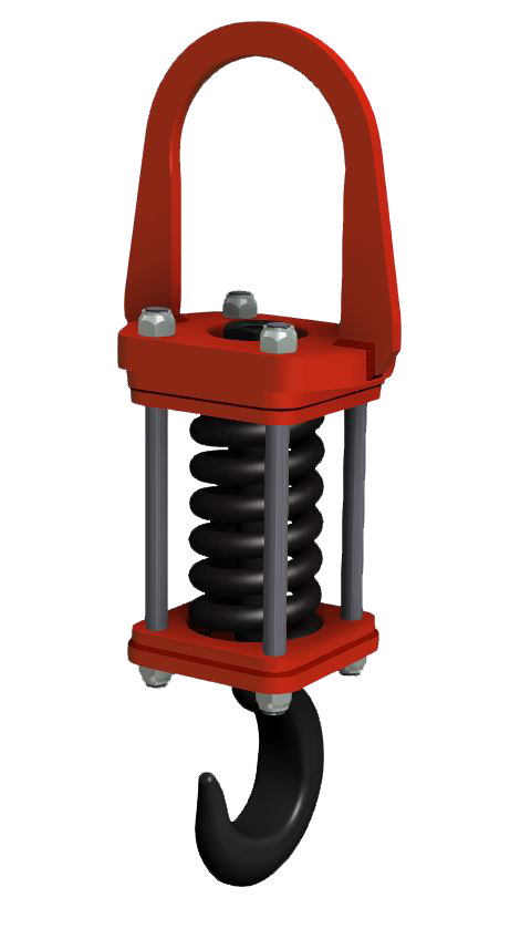 shock absorbing lift device